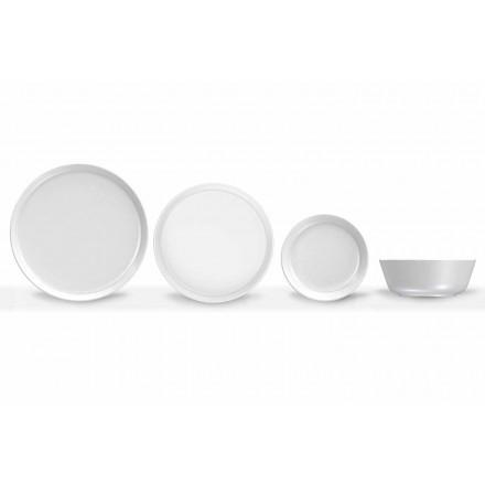 Service De Table En Porcelaine De Design Moderne Blanc 24 Pièces - Arctic