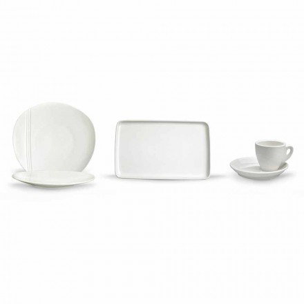 Service à vaisselle apéritif en porcelaine moderne 36 pièces - Nalah