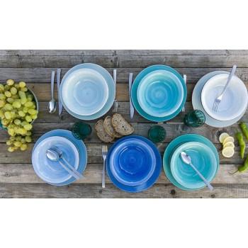 Ensemble de vaisselle de couleur bleue 18 pièces Vaisselle - Abruzzo4