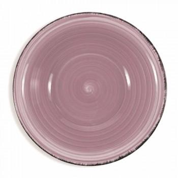 Ensemble de plaques de grès peintes à la main colorées Set 18 pièces - Abruzzo3
