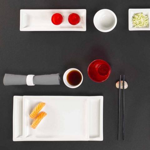 Assiettes à dîner modernes en porcelaine blanche, 25 pièces - Basal