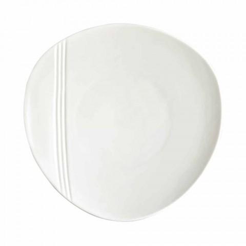 Assiette à dîner en porcelaine moderne 26 pièces - Nalah