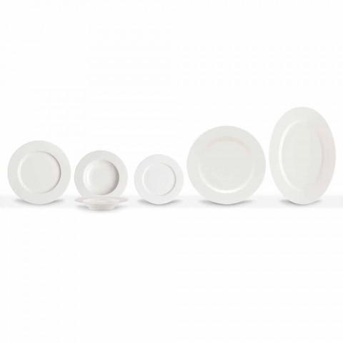 Assiettes à dîner en porcelaine élégante et moderne, 20 pièces - Arendelle