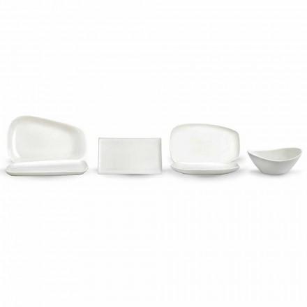 Dîner en porcelaine blanche ou service de plats de service - Nalah