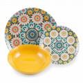 Service Asiettes ethniques colorés Porcelaine et grès 18 Pièces – Marocco