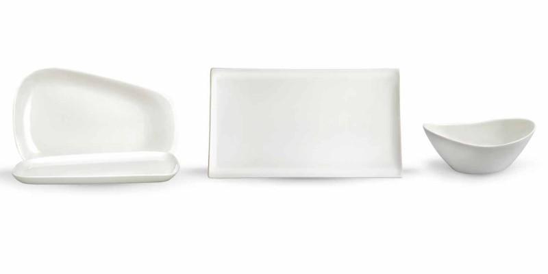 Assiette à dîner ou assiettes en porcelaine 14 pièces - Nalah