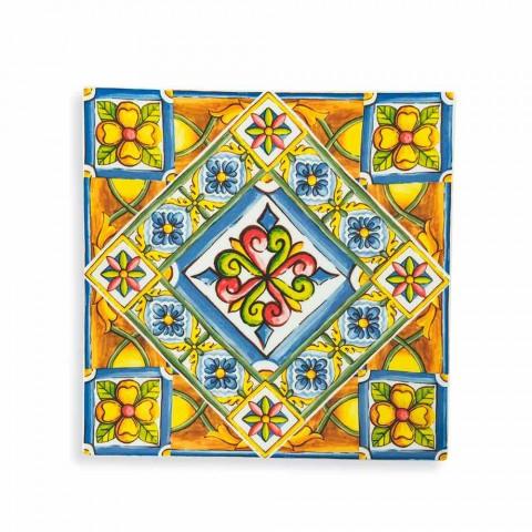Assiettes Carrées Colorées Modernes en Porcelaine et Porcelaine 18 Pièces - Eté