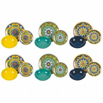 Service de Table Complet en Porcelaine et Grès Coloré 18 Pièces - Calabre