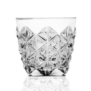 Bouteille de Service à Whisky et Verres Bas Eco Crystal 7 Pièces - Rebus
