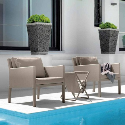 Fauteuil de jardin en aluminium et textilène Step