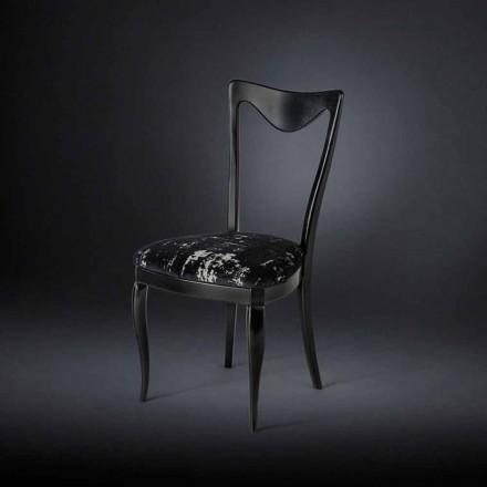 Set de 2 chaises en tissu mixte velour Frida