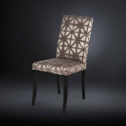 Lot de 2 chaises rembourrées avec pieds en bois noir Audrey