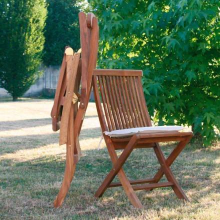 Chaise de jardin pliante en bois de teck