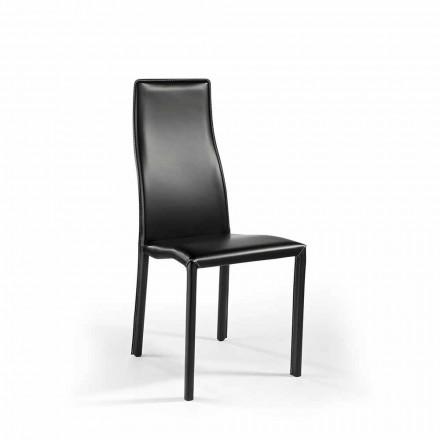 Lot deux chaises en cuir, cuir régénéré ultra légères, de design Cruise