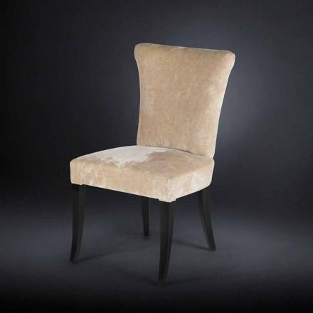 Lot de 2 chaises rembourrées Dita, couleur Ecru
