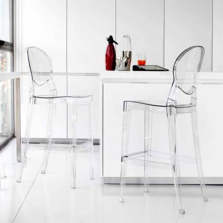 Tabouret en polycarbonate transparent de design Bosa