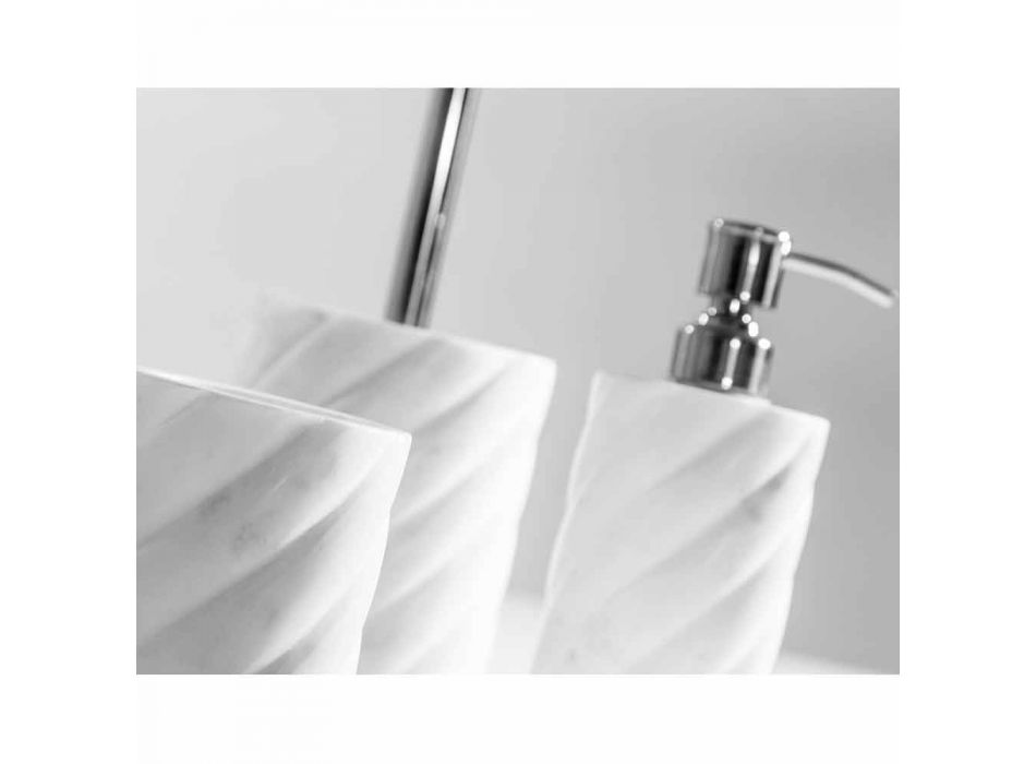 Accessoires de décoration de salle de bain en marbre Calacatta Monza