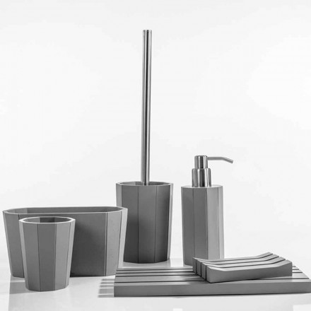 Ensemble d'accessoires de salle de bains moderne en résine Rivello