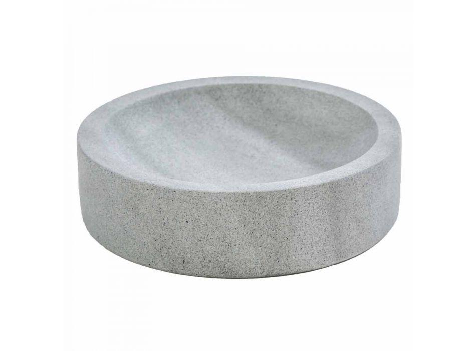 Accessoires de salle de bain modernes en pierre grise Montale