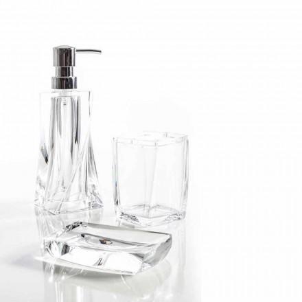 Set moderne pour distributeur de salle de bain, verre, porte-savon Torraca