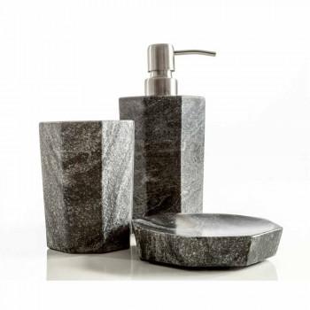 Accessoires de salle de bain modernes montés en marbre gris veiné Montafia