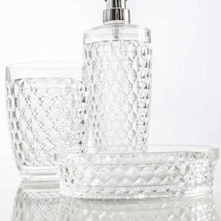 Set moderne pour distributeur de salle de bain, verre, porte-savon Netro