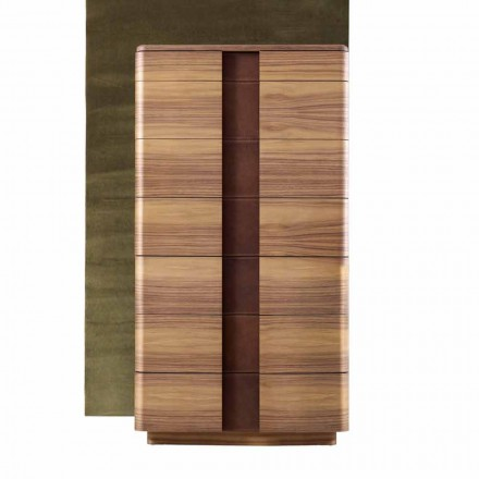 Commode haute, bois massif design moderne Grilli York faite en Italie