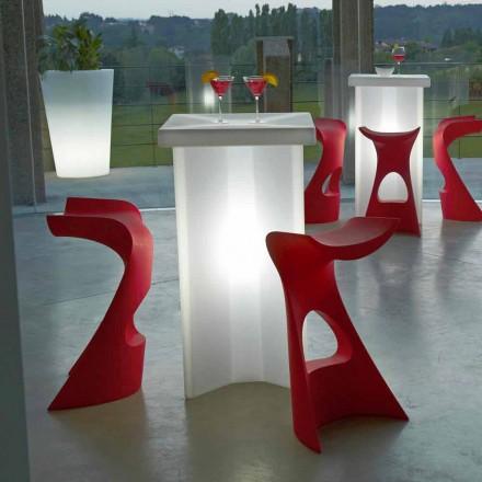 Tabouret Koncord Slide haut de gamme pour intérieur / intérieur, fabriqué en Italie