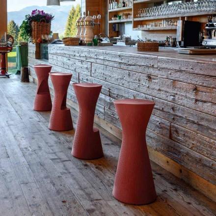 Tabouret de jardin haut en polyéthylène coloré Made in Italy - Desmond