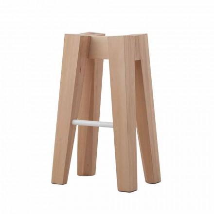 Tabouret de cuisine en bois de hêtre massif design haut ou bas - Cirico