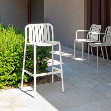 Tabouret empilable de jardin moderne Talenti Trocadero, en aluminium