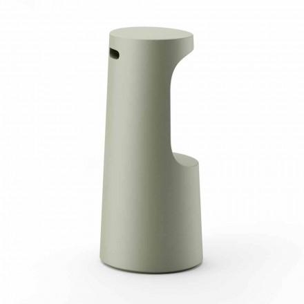Tabouret haut design en polyéthylène mat pour extérieur Made in Italy - Forlina