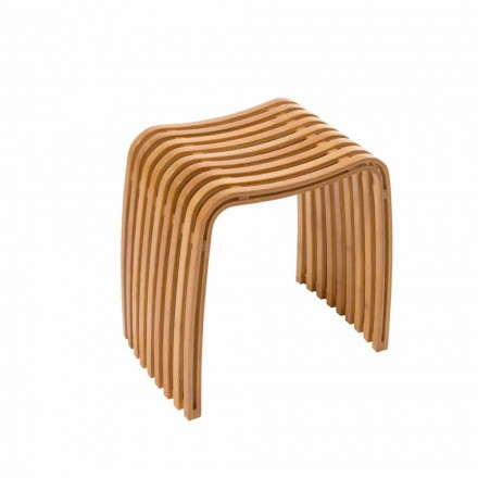 Pied de salle de bain design en bambou courbé chaud Gorizia