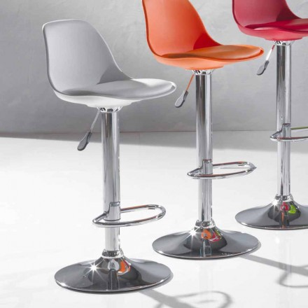 Tabouret Relevable en Simili Cuir de Design Moderne – Rosa