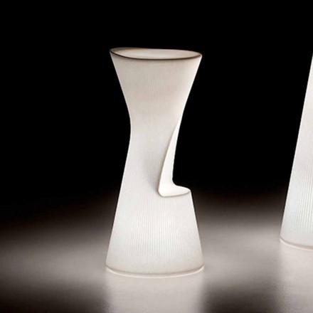 Tabouret d'extérieur lumineux en polyéthylène avec LED Made in Italy - Desmond