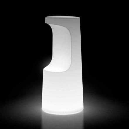 Tabouret d'extérieur lumineux en polyéthylène avec éclairage LED Made in Italy - Forlina