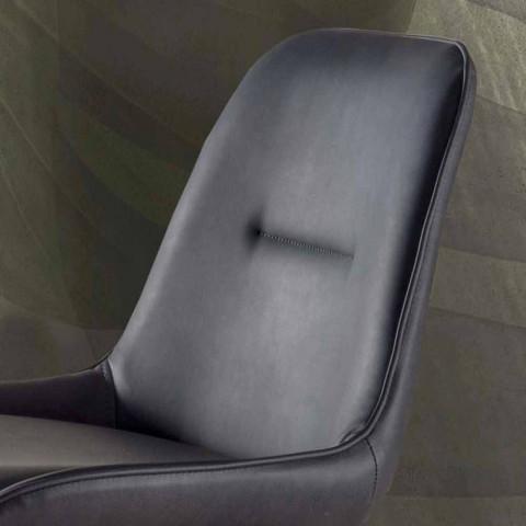 Tabouret Moderne H 80 cm, Assise en Simili Cuir Nabuk – Ines