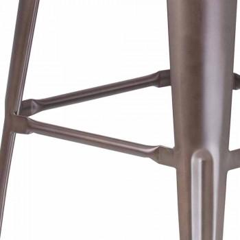 Tabouret de style industriel, entièrement en métal - Giuditta