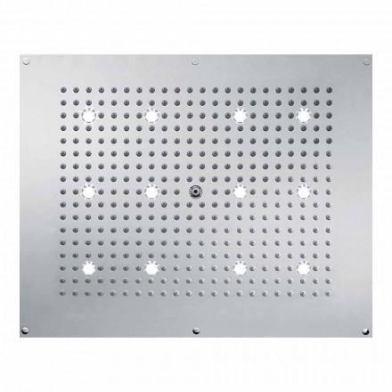Bossini Plafond de douche 1 jet  , jet pluie et lumières LED