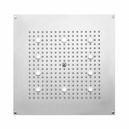 Bossini Plafond de douche carré 1 jet  , jet pluie et lumières LED