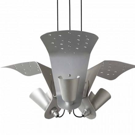 Suspension à trois lampes design en métal Tracteur - Toscot