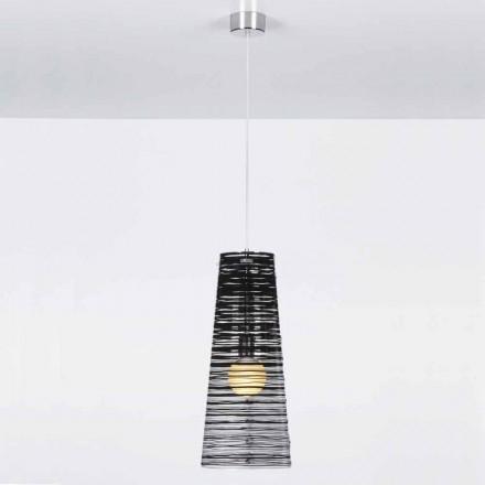 Suspension design transparent, décoration colorée, diam. 25cm, Shana