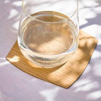 Sous-verre carré moderne en bois fabriqué en Italie - Abraham