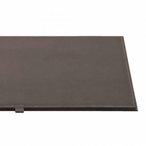 Sous-main design en cuir régénérable ouvrable Made in Italy - Aristote
