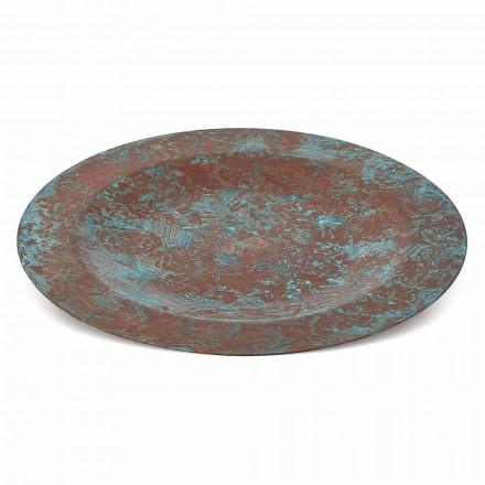 Set de Table Cuivre Vert ou Marron Etamé à la Main 6 Pièces 28 cm - Rocho