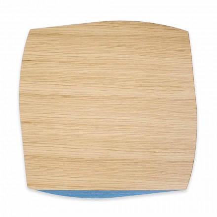 Set de table carré moderne en bois de chêne fabriqué en Italie, 4 pièces - Abraham