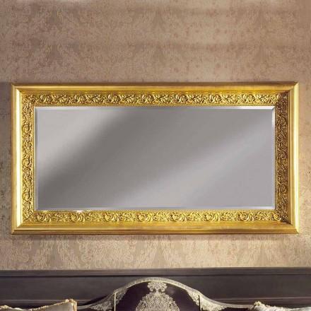 Miroir mural ayous en bois fabriqué à la main, fabriqué en Italie. Enrico
