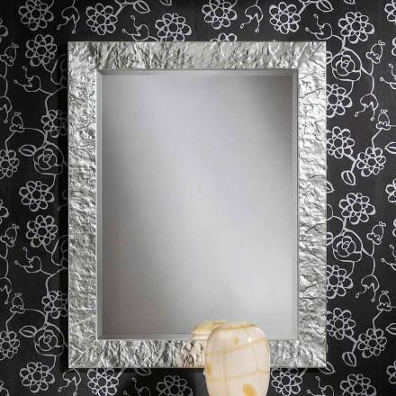 Miroir mural fait main en bois doré ayous, fabriqué en Italie, Antonio