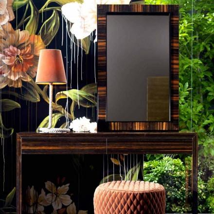 Miroir mural/à poser au sol de design Grilli Zarafa en bois d'ébène
