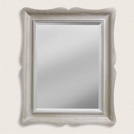 Miroir mural ayous en bois de conception moderne, fabriqué en Italie, Angelo